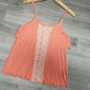 Eyeshadow Flowing Lace Accent tank!